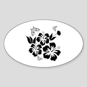 Hibiscus Wonder- Sticker (Oval)