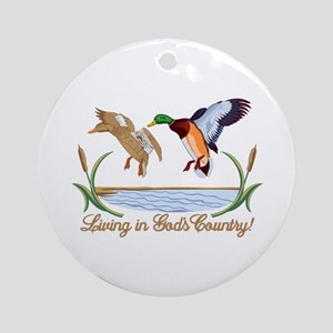 Gods Country Ornament (Round)
