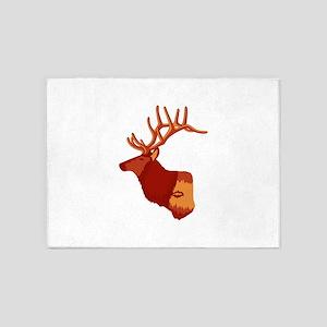 Elk silhouette 5'x7'Area Rug