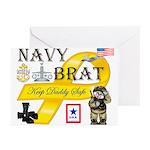 navy brat Greeting Cards