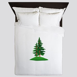 Evergreens Queen Duvet
