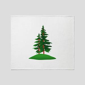 Evergreens Throw Blanket