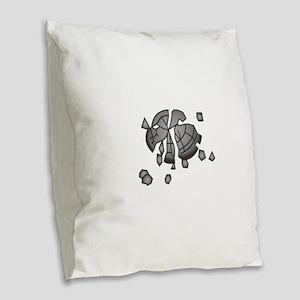 Clay Pigeon Burlap Throw Pillow