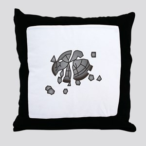 Clay Pigeon Throw Pillow