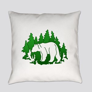 Bear Silhouette Everyday Pillow
