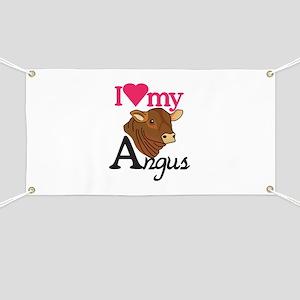 I Love My Angus Banner