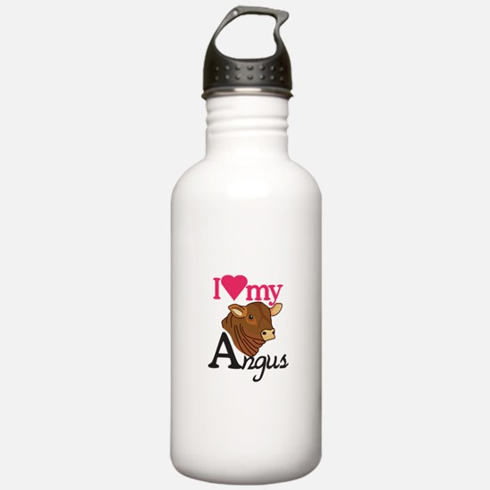 I Love My Angus Water Bottle