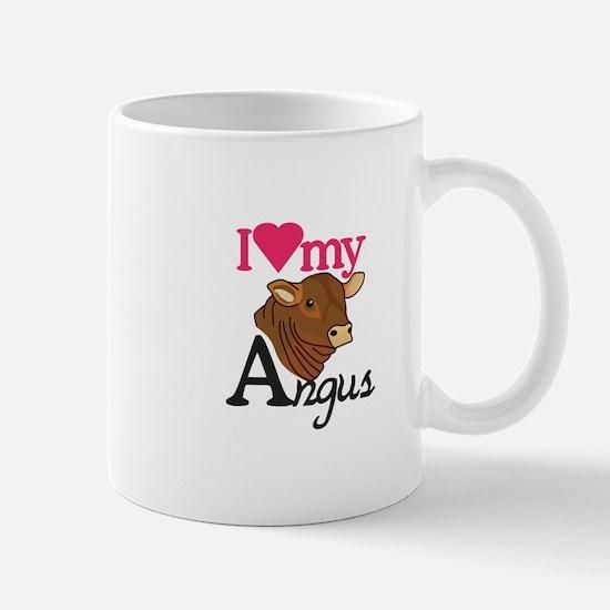 I Love My Angus Mugs