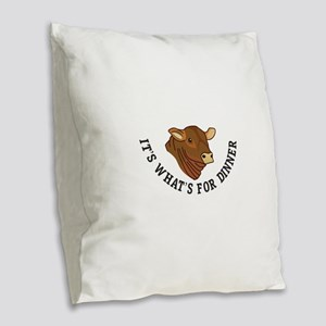 Its Whats For Dinner Burlap Throw Pillow