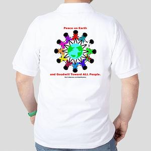 Peace On Earth (backprint) Golf Shirt