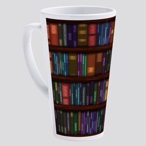 Old Bookshelves 17 oz Latte Mug