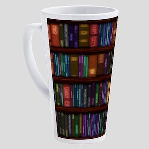 Old Bookshelves 17 oz Latte Mug
