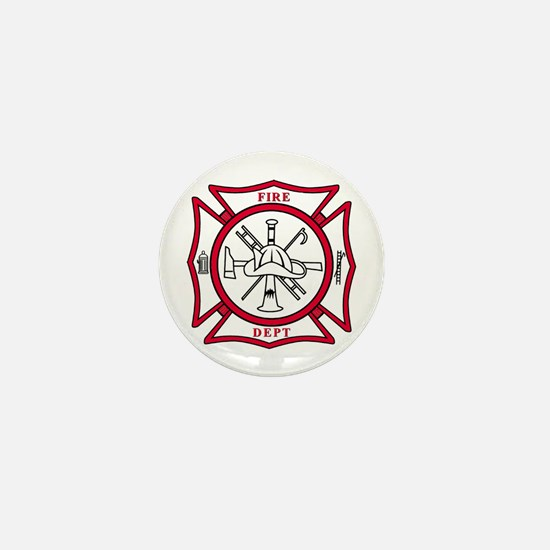 Fire Department Maltese Cross Mini Button