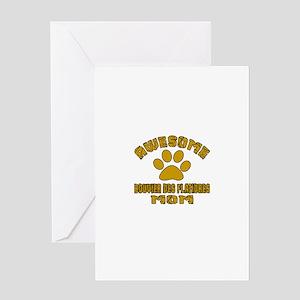 Awesome Bouvier Des Flandres Mom Dog Greeting Card