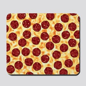 Pepperoni Pizza Pattern Mousepad
