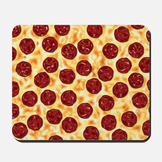 Pepperoni Pizza Pattern Mousepad