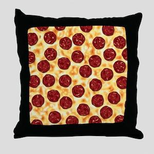 Pepperoni Pizza Pattern Throw Pillow