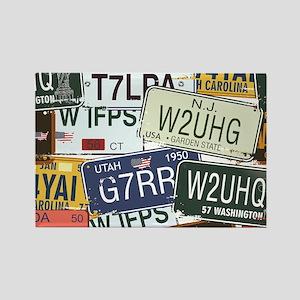 Vintage License Plates Magnets