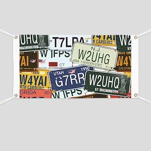 Vintage License Plates Banner