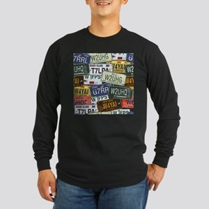 Vintage License Plates Long Sleeve T-Shirt