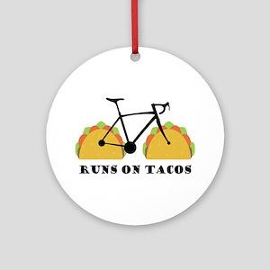 Runs On Tacos Round Ornament
