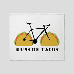 Runs On Tacos Throw Blanket