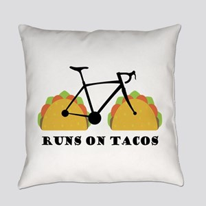 Runs On Tacos Everyday Pillow