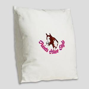 Paints Have Style Burlap Throw Pillow