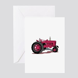 Farm Tractor Greeting Cards