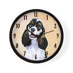 Cocker Spaniel (Parti-Colored) Wall Clock