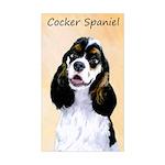 Cocker Spaniel (Parti-Colored) Sticker (Rectangle)