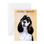 Cocker Spaniel (Parti-Co Greeting Cards (Pk of 10)