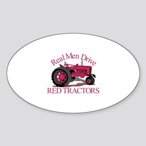 Drive Red Tractors Sticker