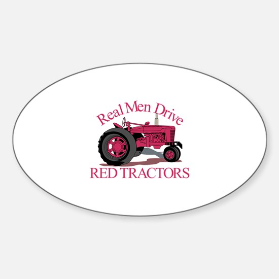 Drive Red Tractors Decal