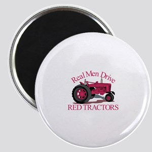 Drive Red Tractors Magnets