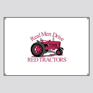 Drive Red Tractors Banner
