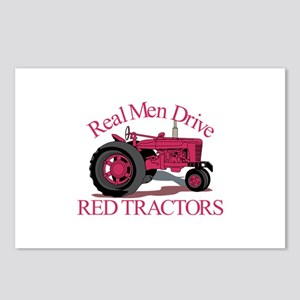 Drive Red Tractors Postcards (Package of 8)