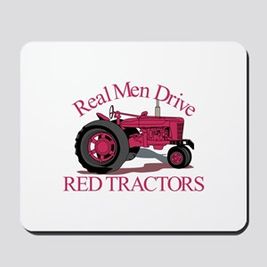 Drive Red Tractors Mousepad