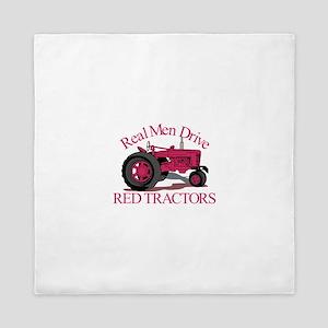 Drive Red Tractors Queen Duvet