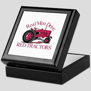 Drive Red Tractors Keepsake Box