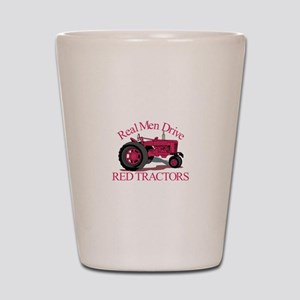 Drive Red Tractors Shot Glass
