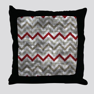 Distressed Winter Zig Zags Throw Pillow