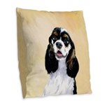 Cocker Spaniel (Parti-Colored) Burlap Throw Pillow