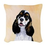Cocker Spaniel (Parti-Colored) Woven Throw Pillow