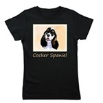Cocker Spaniel (Parti-Colored) Girl's Tee