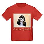 Cocker Spaniel (Parti-Colored) Kids Dark T-Shirt