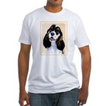 Cocker Spaniel (Parti-Colored) Fitted T-Shirt