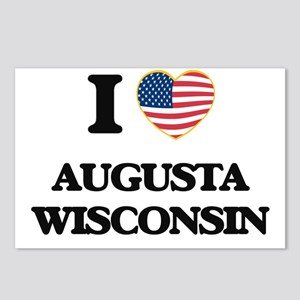 I love Augusta Wisconsin Postcards (Package of 8)
