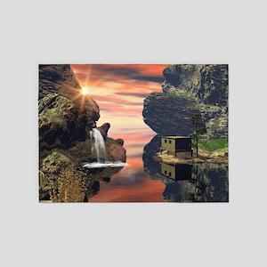 Fantasy landscape 5'x7'Area Rug