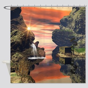 Fantasy landscape Shower Curtain